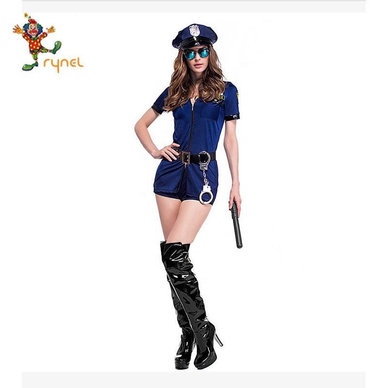 Neuer Artikel blau zweiteilig Set Cop Party Cosplay Kostüm