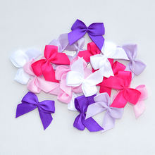 pre-made purple mini satin ribbon bow for briefs