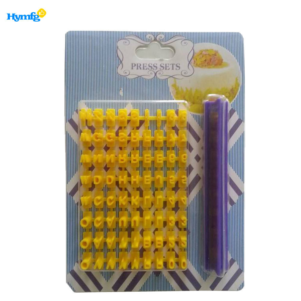 letter press set for cake decoration tools and plastic cookie press set