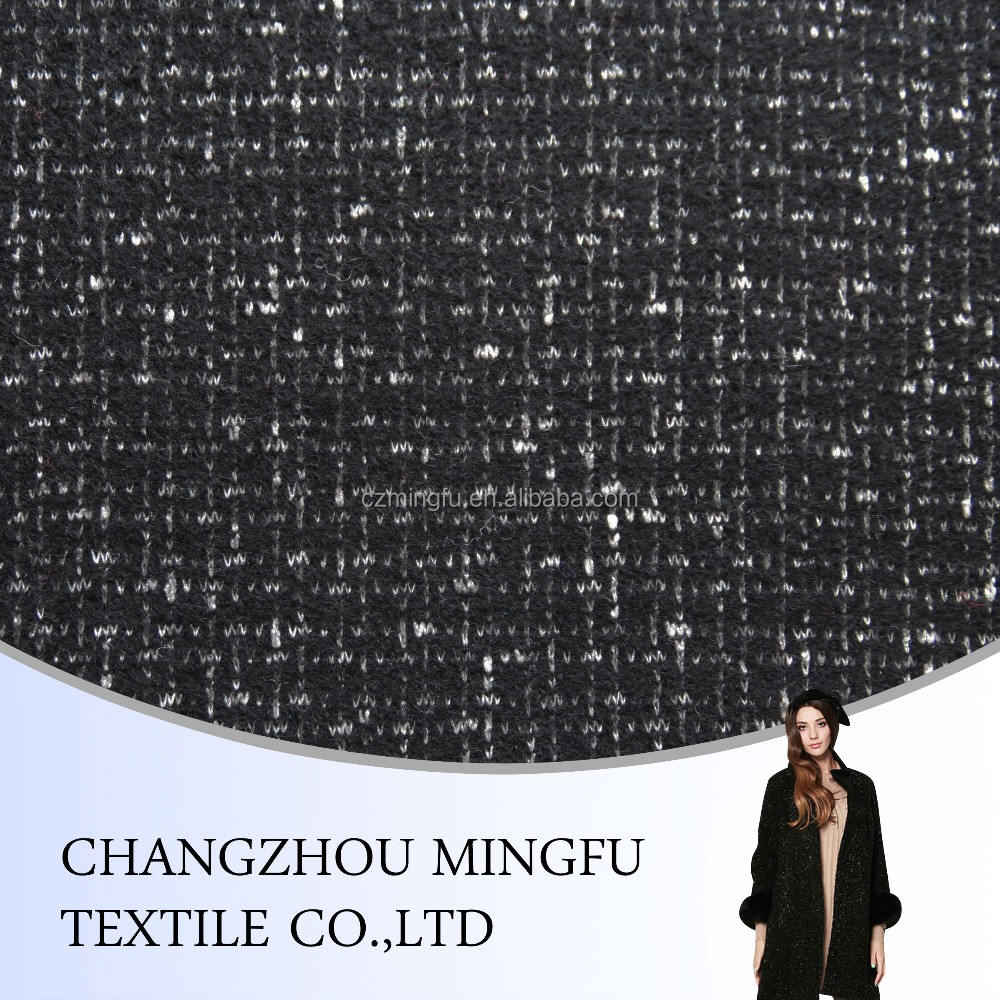 High quality bolied wool knit fabric for coat and suit