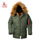 n3b fur hooded thick warm mens winter military parka russian winter coat