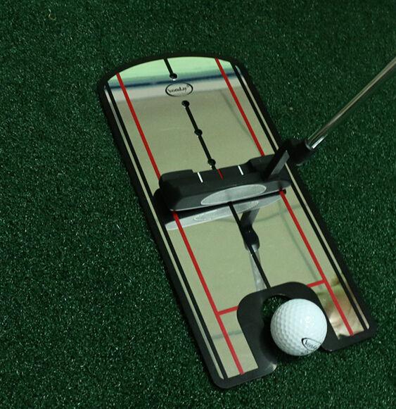 Golf Putting Alineación Alineación Postura Golf <span class=keywords><strong>Training</strong></span> Aids Golf Putting Espejo Espejo Pequeño