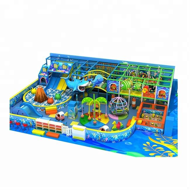 Ocean theme indoor amusement park equipment with kids party zone