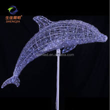 Latest products 3Dmotif modelling light Led Dolphin Light for outdoor festival party christmas