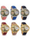 Gold and Silver Diamond 3D Polymer Clay Mini World Watch