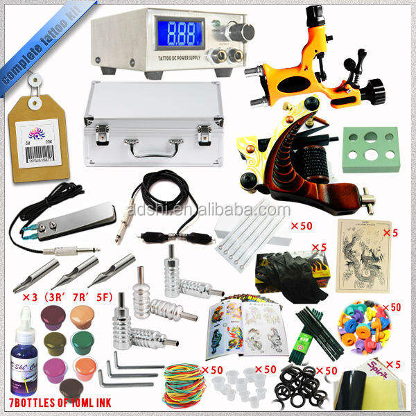 nieuwe complete set tattoo machine tattoo kit tattoo apparatuur een set