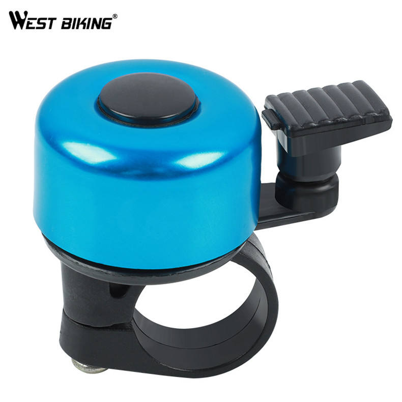 WEST BIKING Bicycle Bells Colorful Ring Bell Handlebar Bicycle Accessories Riding Race MTB Road Bike Cycling Bicycle Alarm Bells