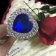 wedding and party decoration sapphire gem wedding cake topper for party city