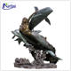 Garden decoration bronze large mermaid dolphin fountain statue NT-BS263B