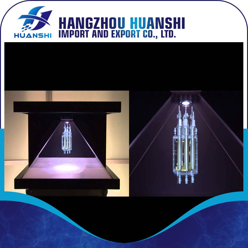 "270 degree 19"" 3d pyramid holographic display for Advertising"
