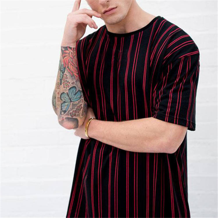 2019 top quality red tshirt custom logo and print for men