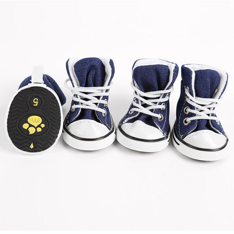 4 pcs/lot Chien Chat <span class=keywords><strong>Chaussures</strong></span> Chien Marche Sneaker Jeans <span class=keywords><strong>Chaussures</strong></span> Denim Chien <span class=keywords><strong>Chaussures</strong></span>