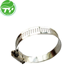 Heavy duty T-bolt hose clamp, SS or steel