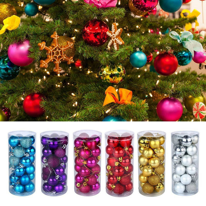 Outdoor Cheap Decoration Supplies Gifts Colorful Plastic Hanging Christmas Decorations Yiwu