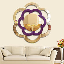 NEW HOT decorative glass round mirror  with custom size
