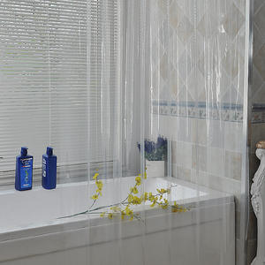 1PC MOQ Heavy Duty PEVA Plastic Shower Curtain Waterproof Clear 72