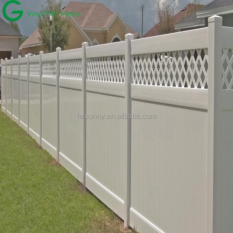 PVC Privacy Fence Vinyl Horse Fence White Cheap Fence Panels Plastic picket gate