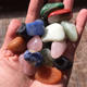 Wholesale 20-30mm Natural Gemstones Tumbled Stone Mixed Color Crystal Tumbled Stone