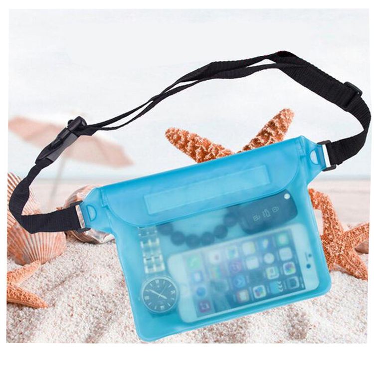 Cheap Transparent PVC Clear Waterproof Pack Cycling Waist Bag Led Fanny Pack Wholesale fanny waist