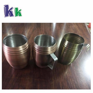50ml metal wine cup, stainless steel shot glass with hook, handle or not