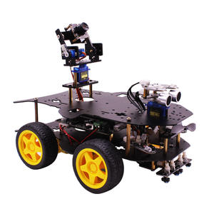 Yahboom Senza Fili WIFI video 4WD robot car kit con la macchina fotografica HD per Raspberry PI 4B/3B + RC Programmabile robot di Controllo Remoto