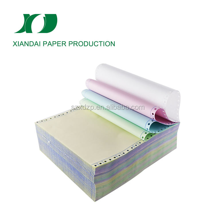 popular carbonless continuous computer paper with 1ply to 5ply