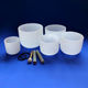 7pcs One Set 432HZ Frosted Quartz Crystal Singing Bowls C D E F G A B Note