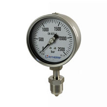 100mm laser welding All stainless steel pressure gauge  with Sliding screw