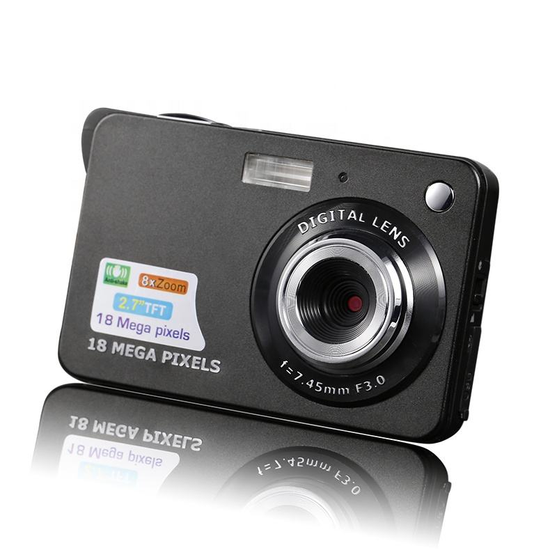 "Amazon hot sale compact 2.7"" 18 Megapixels HD shoot digital photo camera kids video camera made in China"