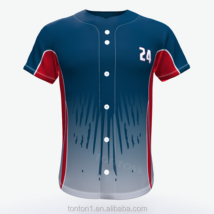 Pieno Botton Sublimata Squadra di Baseball softball Jersey di usura