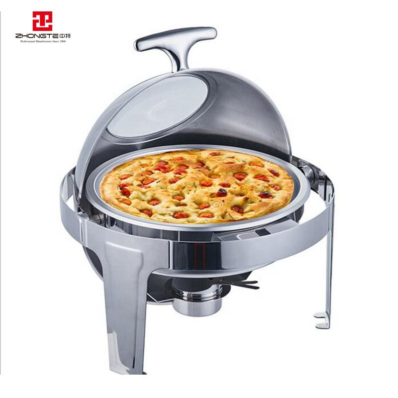 zhongte Wholesale Heating Display Chafing Dish/Water Bath Chaffing Dishes Stainless Steel Buffet Food Warmer