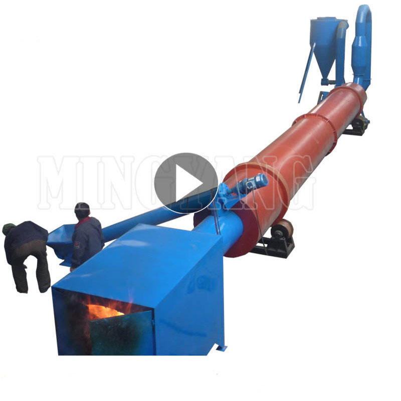 China Supplier Wood Chips Waste Biomass Sawdust Rotary Type Drum Dryer