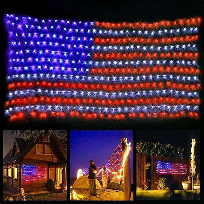 Fabrication directe led usa drapeau led drapeau américain
