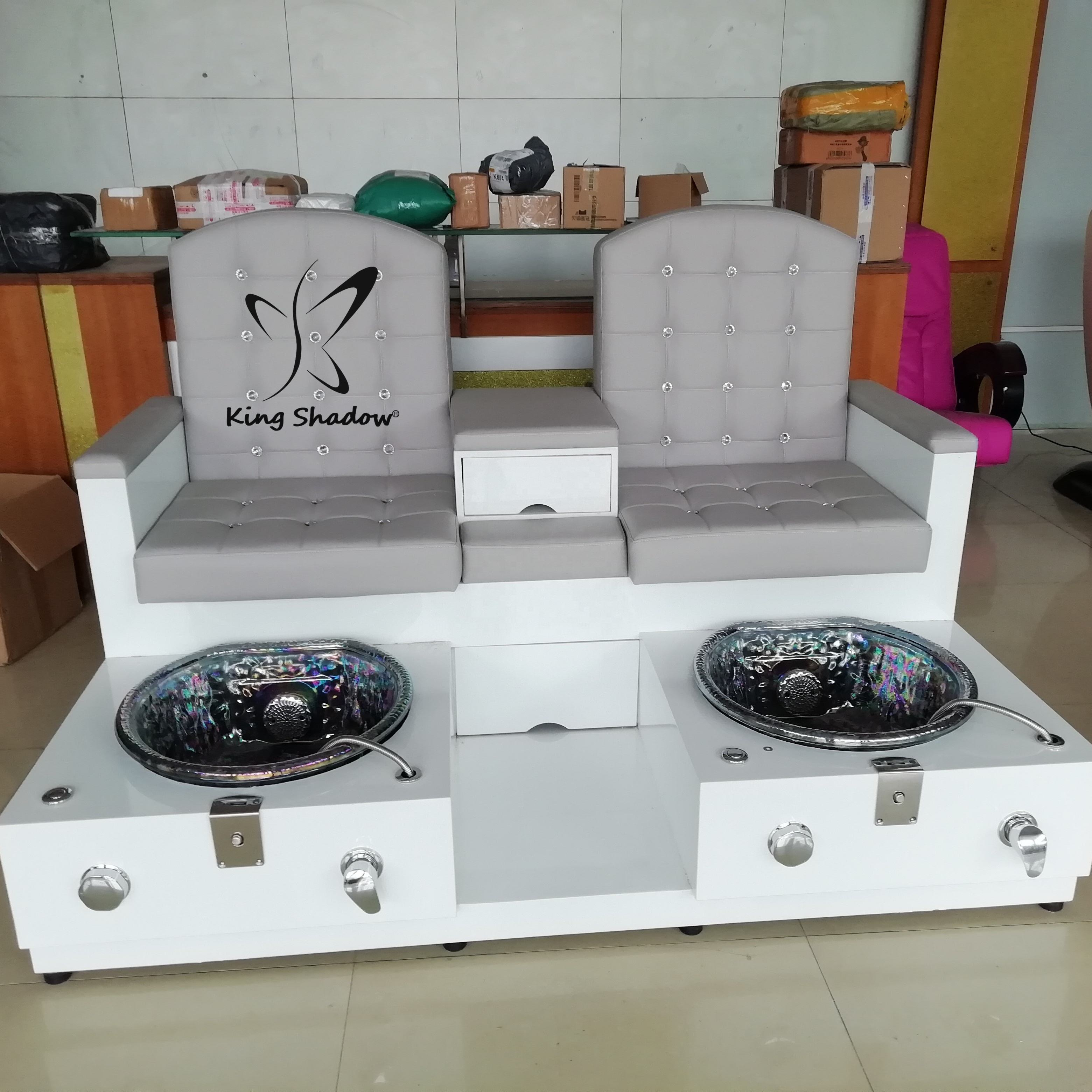 Nail spa equipment pedicure chair foot spa with jet