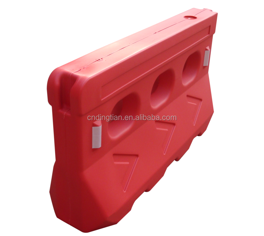 DINGWANG Widely Used Plastic Water Filled Road Safety Barriers