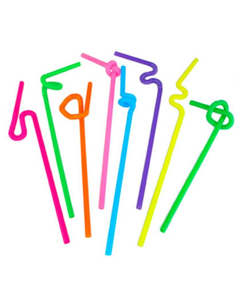 promotion colorful plastic artistic cocktail straws