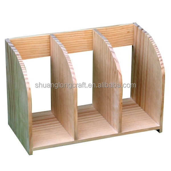 High Quality Desk Stationery Holder, Wooden Book Holder Made in China
