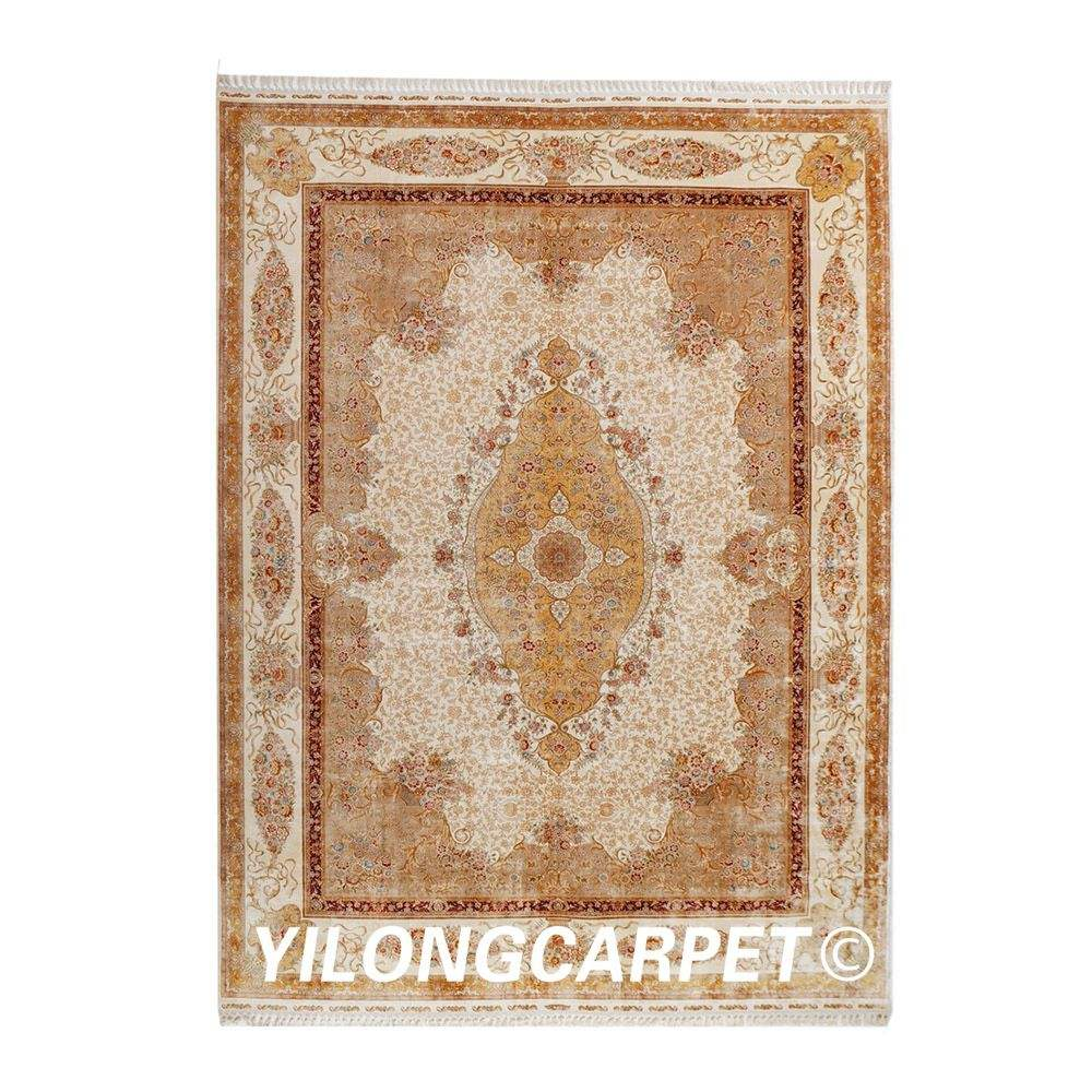 YILONG 10'x14' Hnamade large rug luxury decoration silk hand knotted turkey carpet