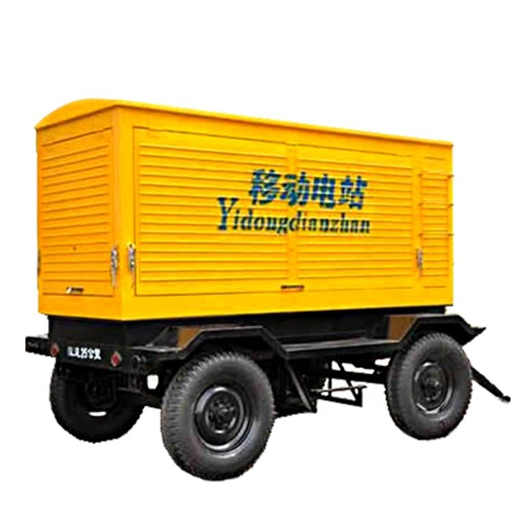120kw diesel generator set with trailer focus on Field power station