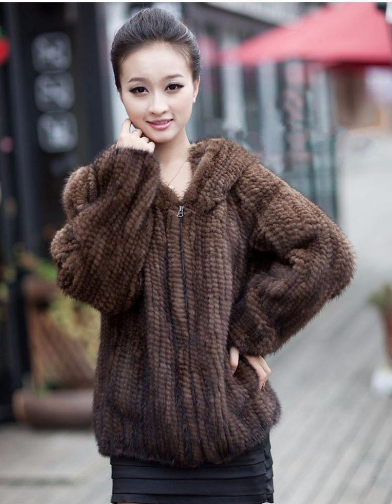 Luxurious 100% High Quality Import Brown Mink Fur Coat
