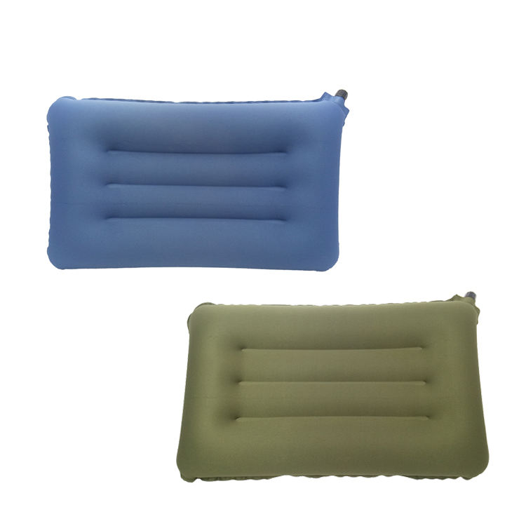 Foldable air filled nylon fabric airline travel relaxing neck pillow
