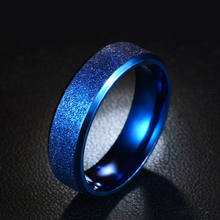 Huilin Customized Wide ring for lovers Korean titanium steel Stainless steel ring with Frosted Personality