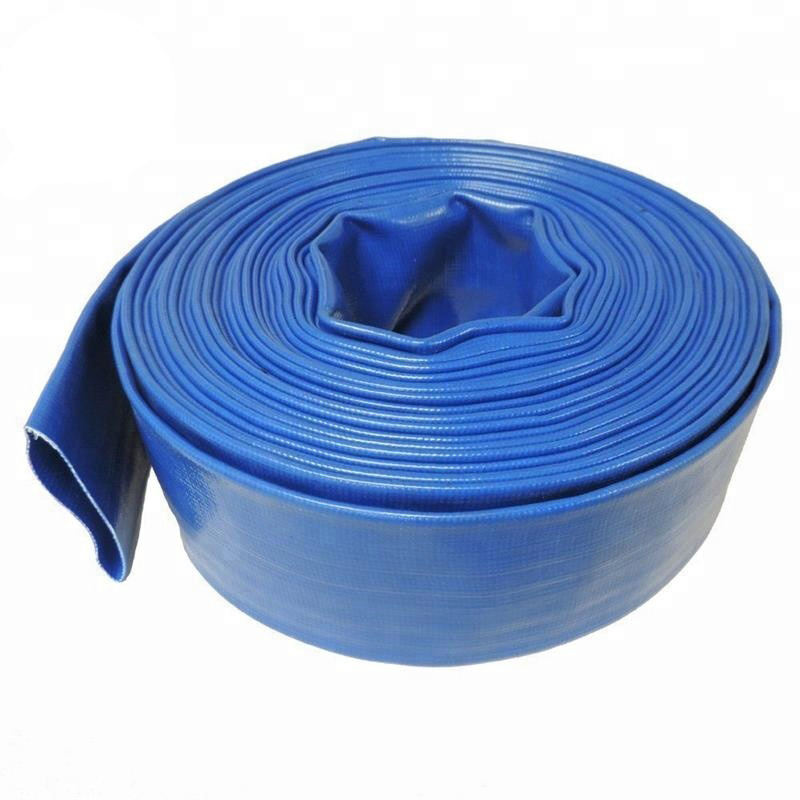 2 Inch Layflat Water Supply Hose 50ft / roll 6 Bar Farm Watering Hose Pipe PVC Lay Flat Hose