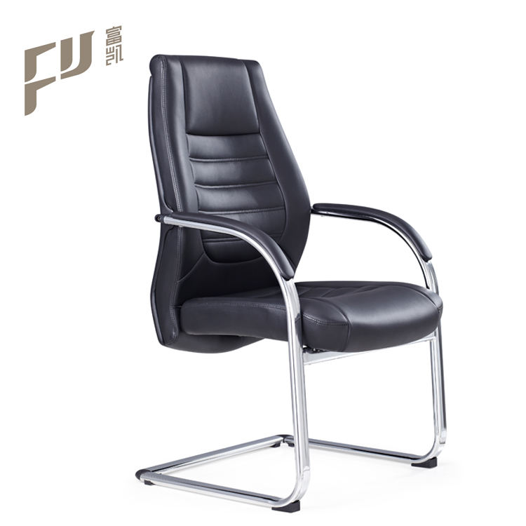 armrest office meeting chair comfortable without wheels