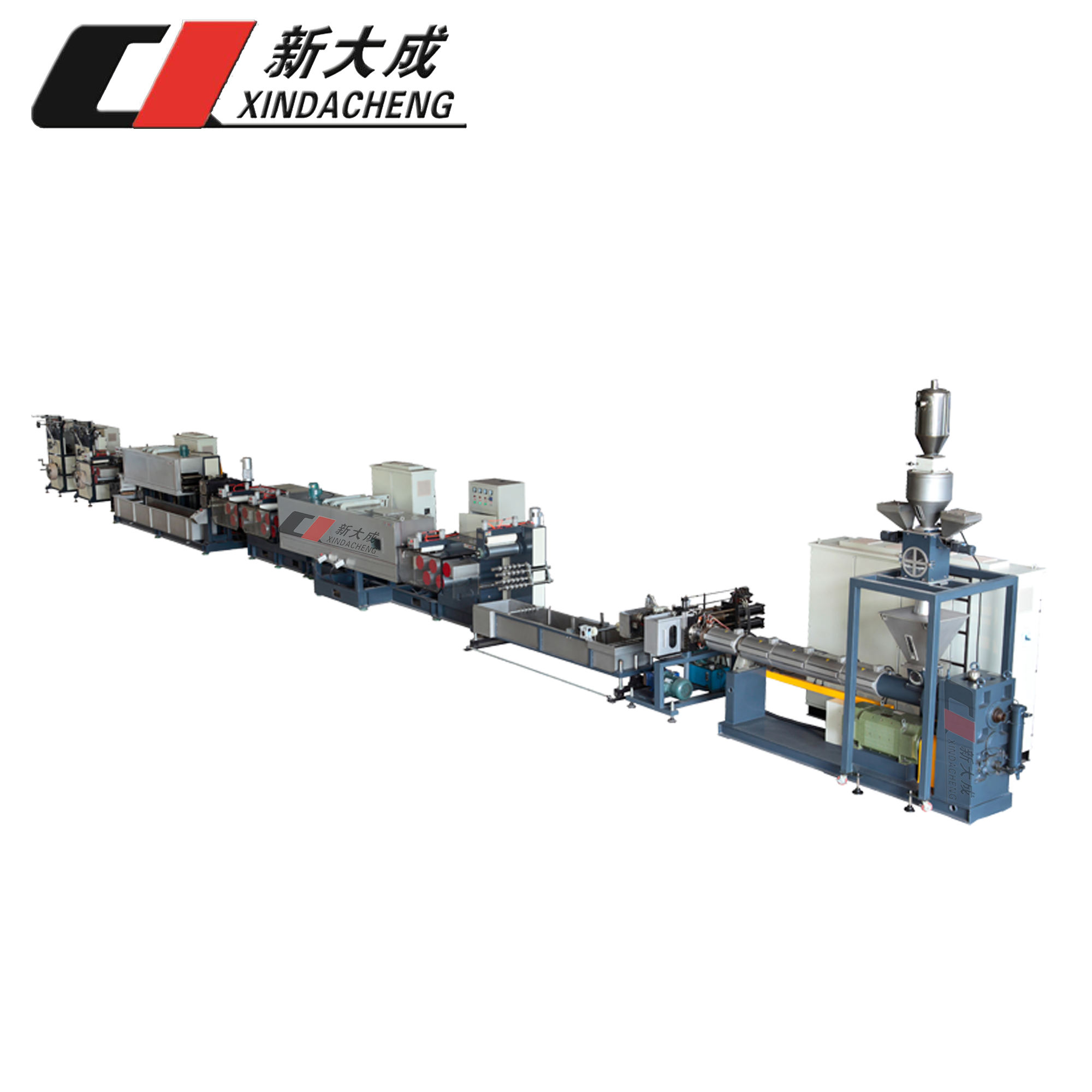 SJ75/33 150kg/h PET strapping band extrusion making machinery