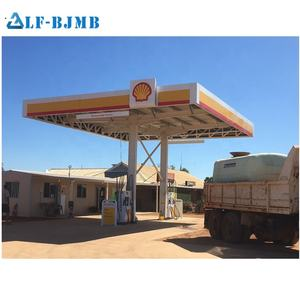 Xuzhou LF Special Prefab Light Steel Structure Space Frame Gas Station Canopy