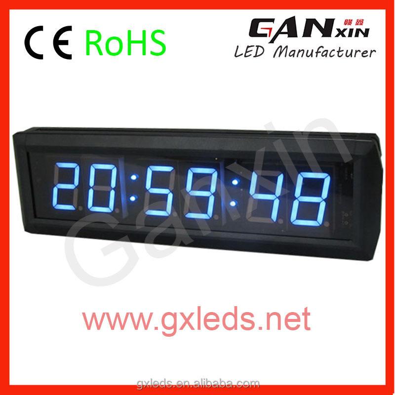 1.8インチ7セグメントledエレクトロニクスディスプレイ一体型グリーンウォールクロック回路
