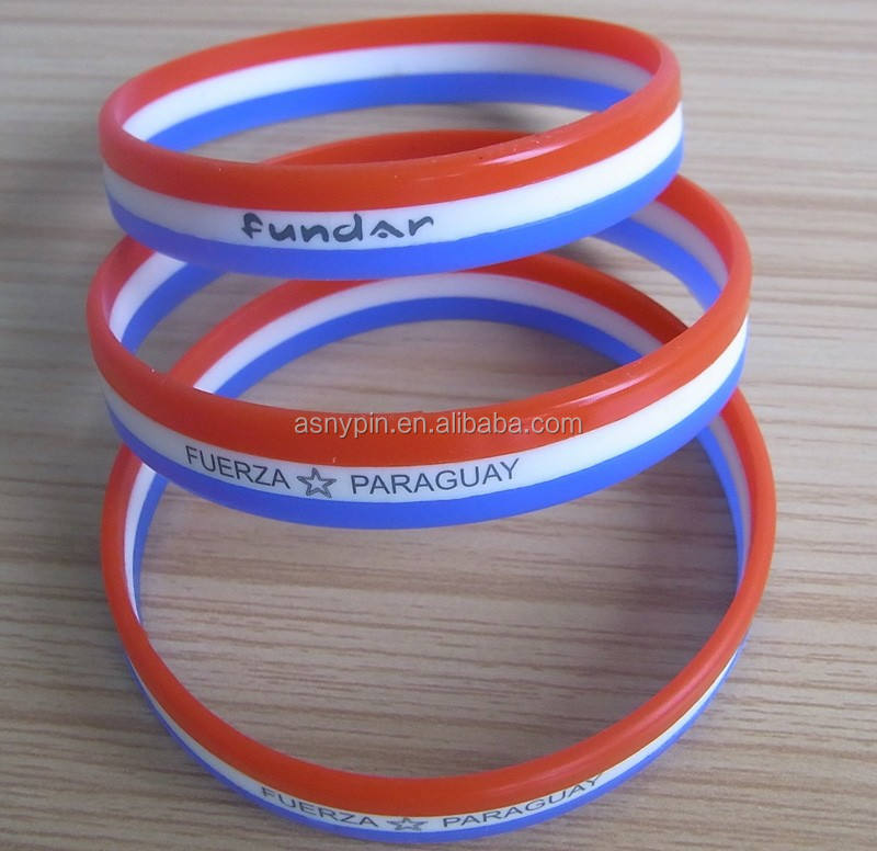 gay pride celebration well-design silicone soft bracelets wristbands