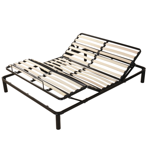 Modern cheap wood slatted Frame adjustable bed