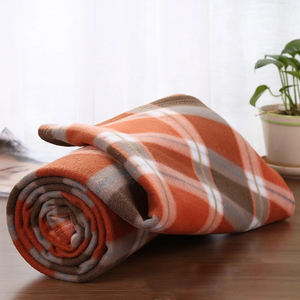 cheap price 100% Polyester plaid blanket scarf printed picnic polar fleece blanket in stock